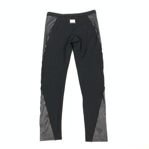 PHILIPP PLEIN COUTURE Faux Leather Low-Rise Pants